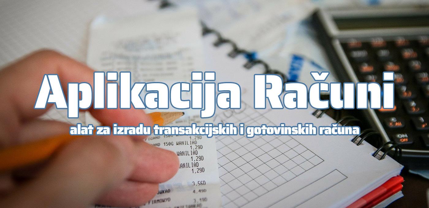Aplikacija Računi Alat Za Transakcijske i Gotovinske Račune 1