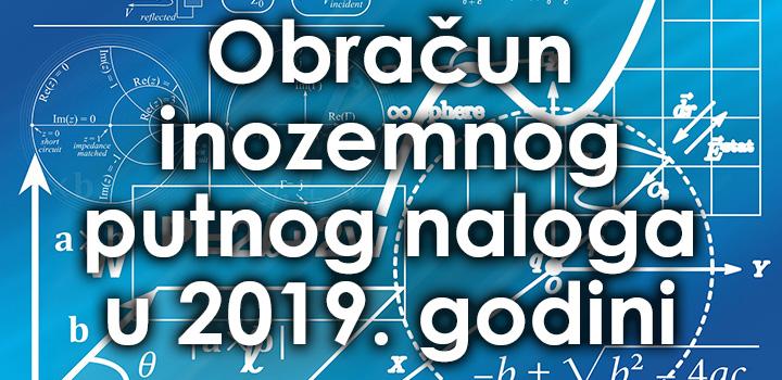 Obračun putnih naloga u 2019.-oj godini 1