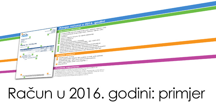 Primjer Računa u 2016. godini