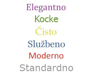 Relago Računi - tipovi predložaka i boja